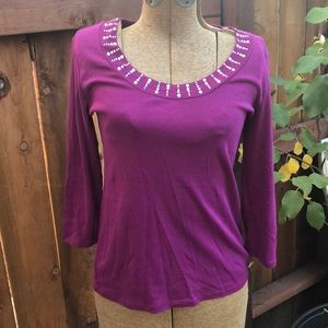 3/$15 Purple top XS style & co